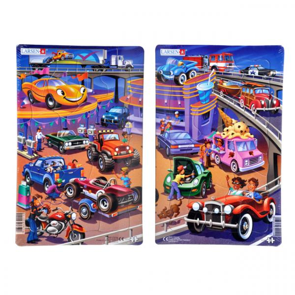 Midi Puzzle 15 Parça : Arabalar